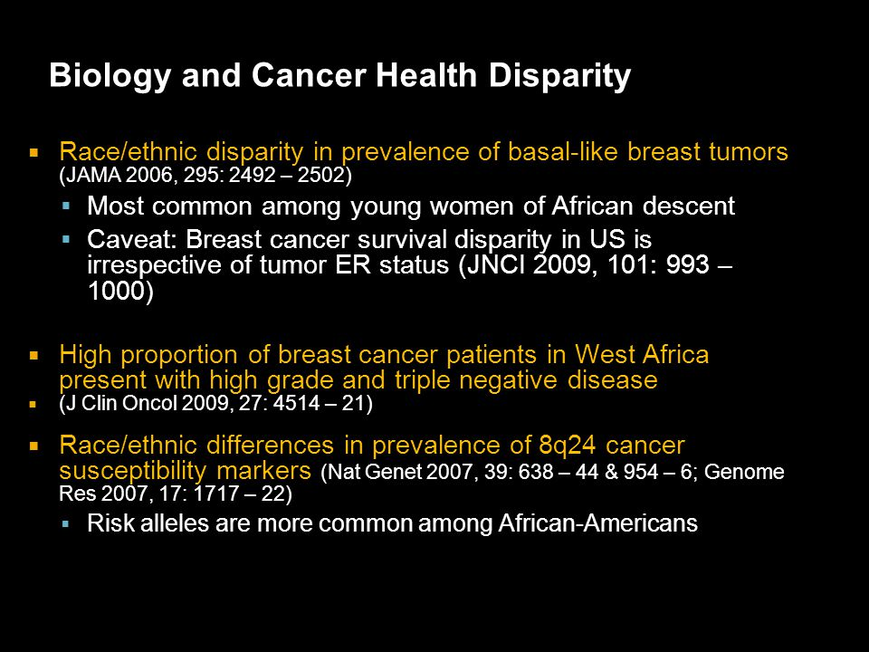Biology and Cancer Health Disparity
