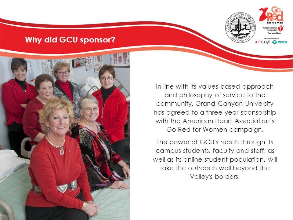 Why did GCU sponsor
