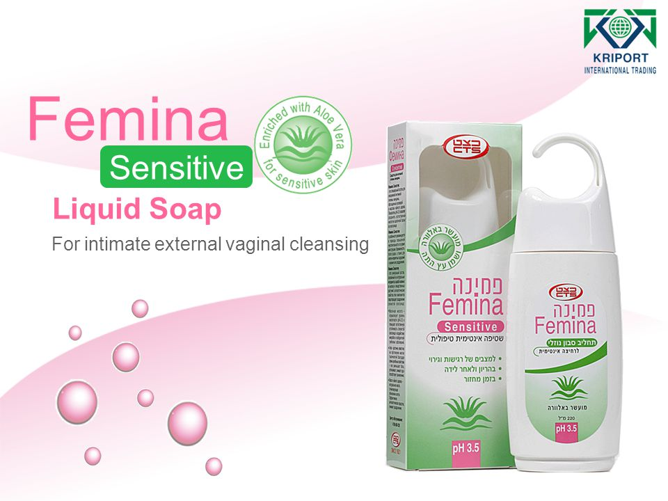 Femina Sensitive Liquid Soap For intimate external vaginal cleansing