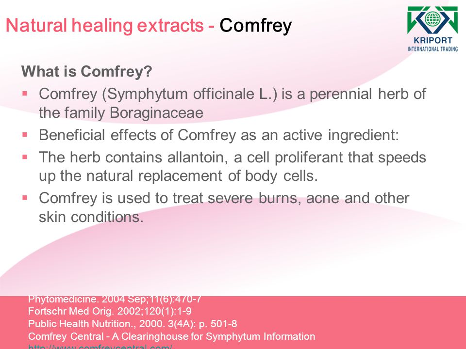 Natural healing extracts - Comfrey
