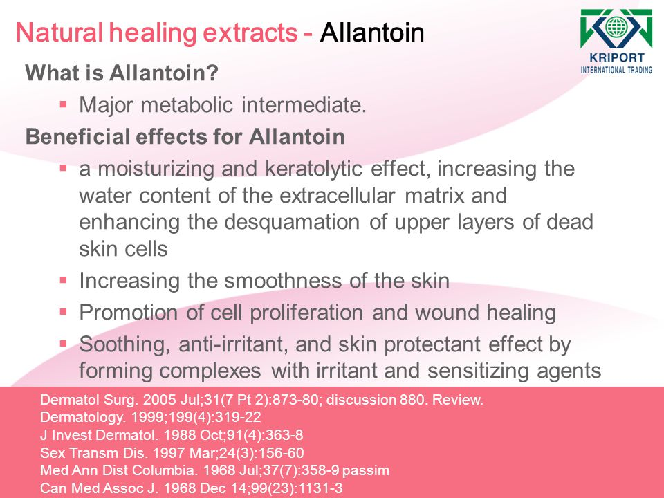 Natural healing extracts - Allantoin