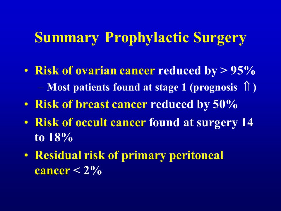Summary Prophylactic Surgery