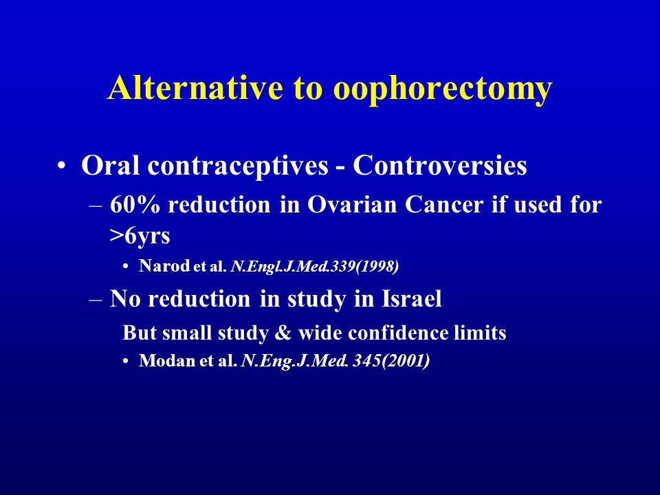 Alternative to oophorectomy