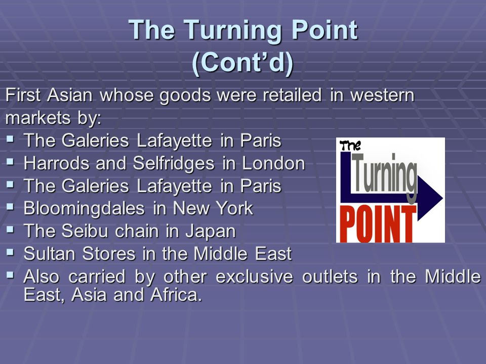 The Turning Point (Cont'd)