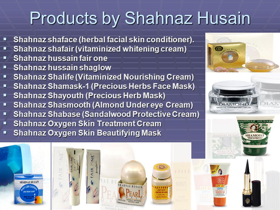 Products by Shahnaz Husain