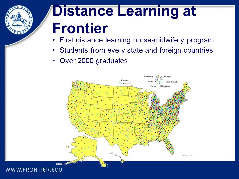 Distance Learning at Frontier