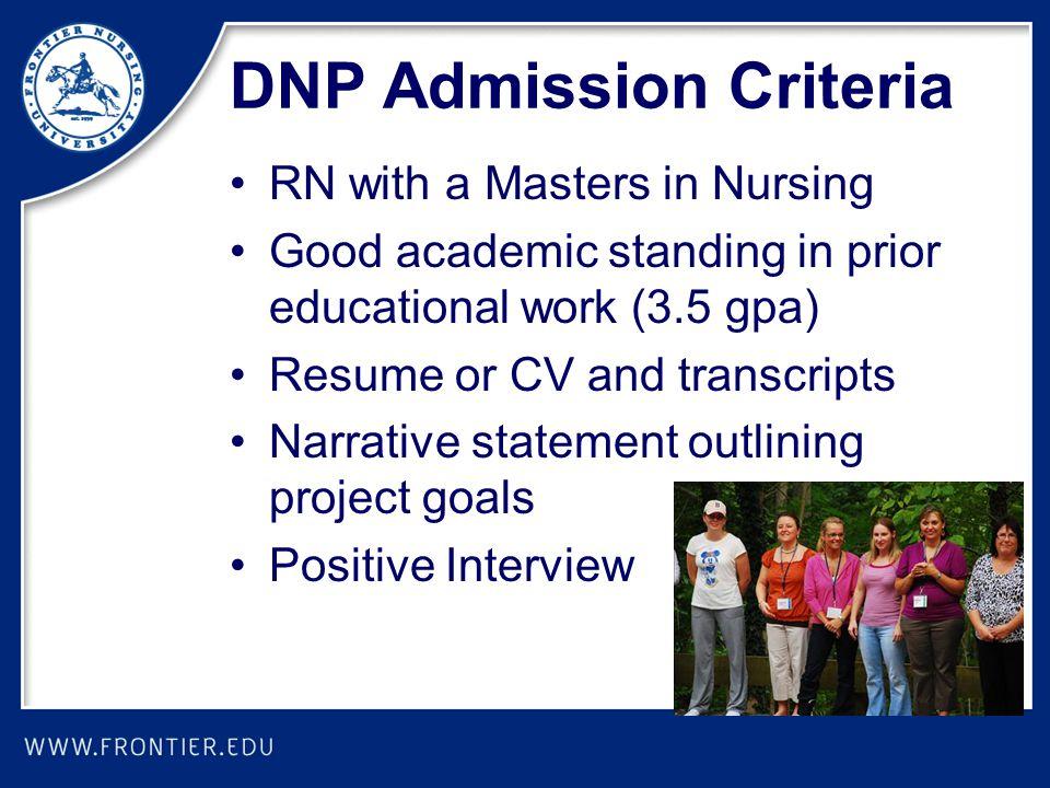 DNP Admission Criteria