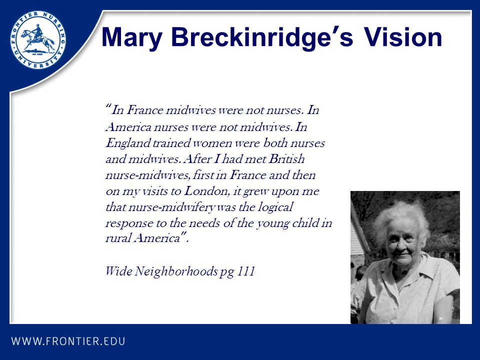 Mary Breckinridge's Vision