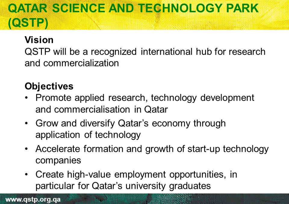 QATAR SCIENCE AND TECHNOLOGY PARK (QSTP)