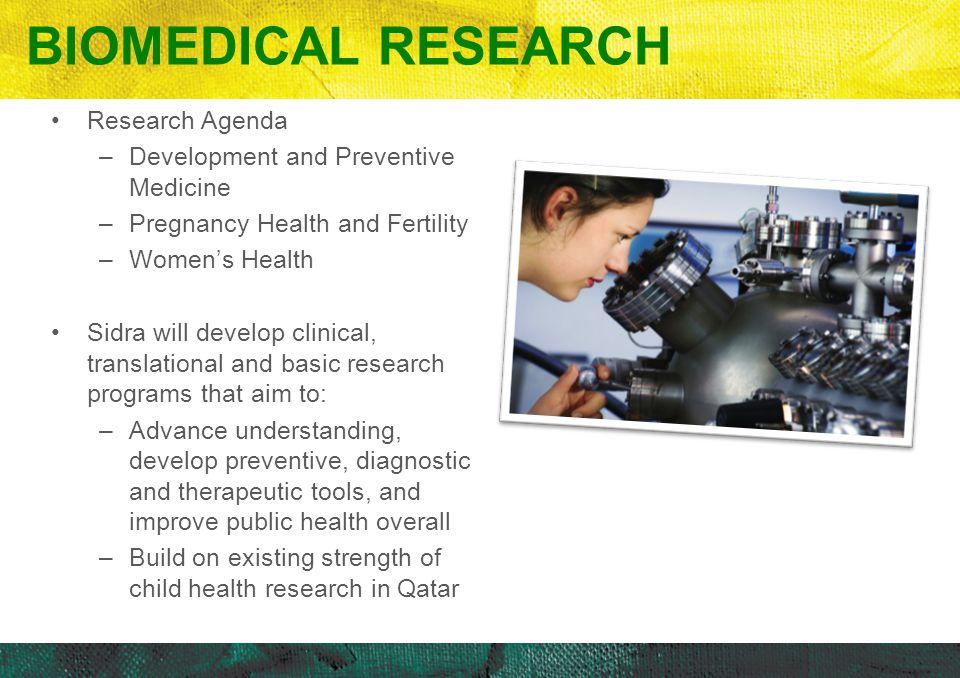 Biomedical Research Research Agenda