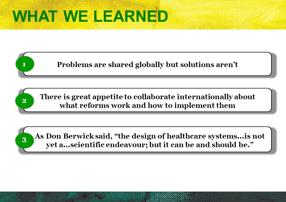 Problems are shared globally but solutions aren't