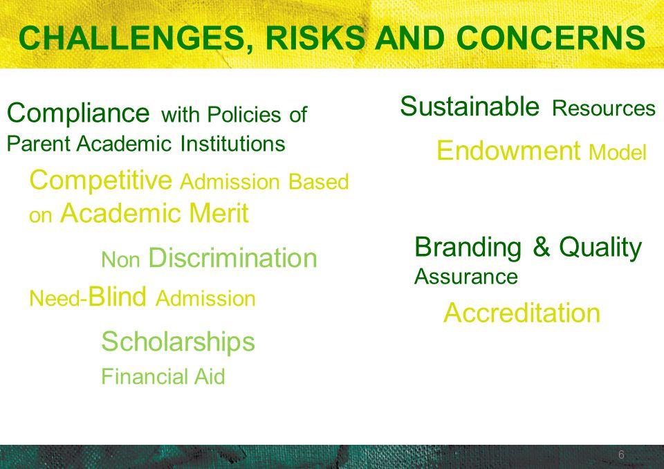 CHALLENGES, RISKS AND CONCERNS