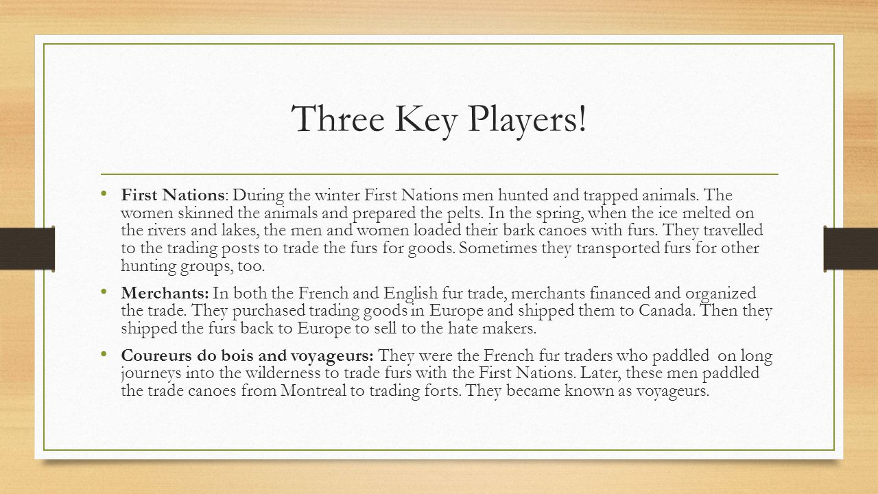 Three Key Players!
