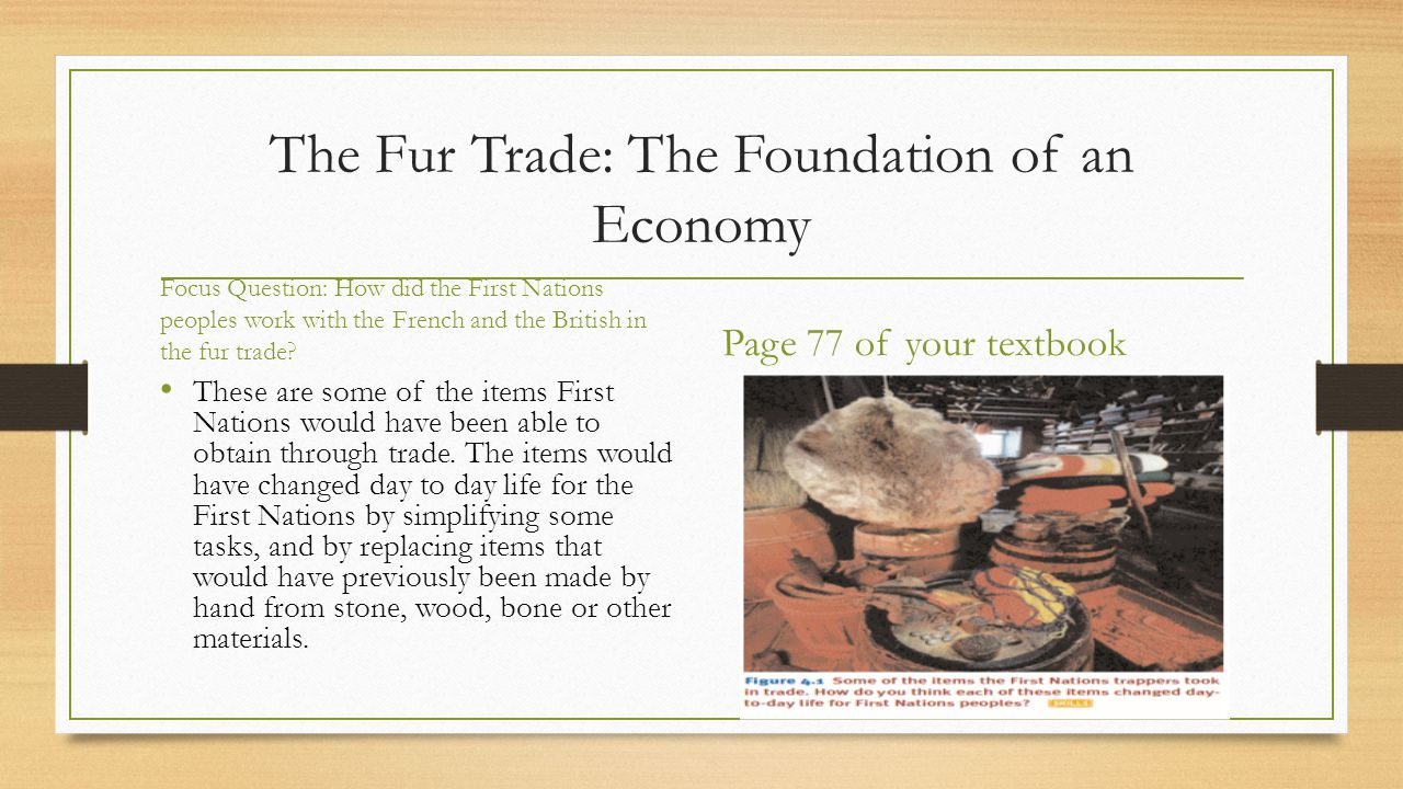 The Fur Trade: The Foundation of an Economy