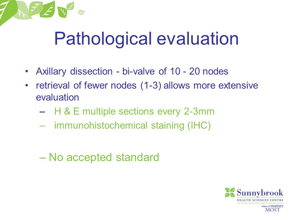 Pathological evaluation