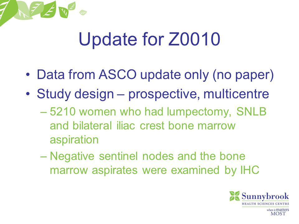 Update for Z0010 Data from ASCO update only (no paper)