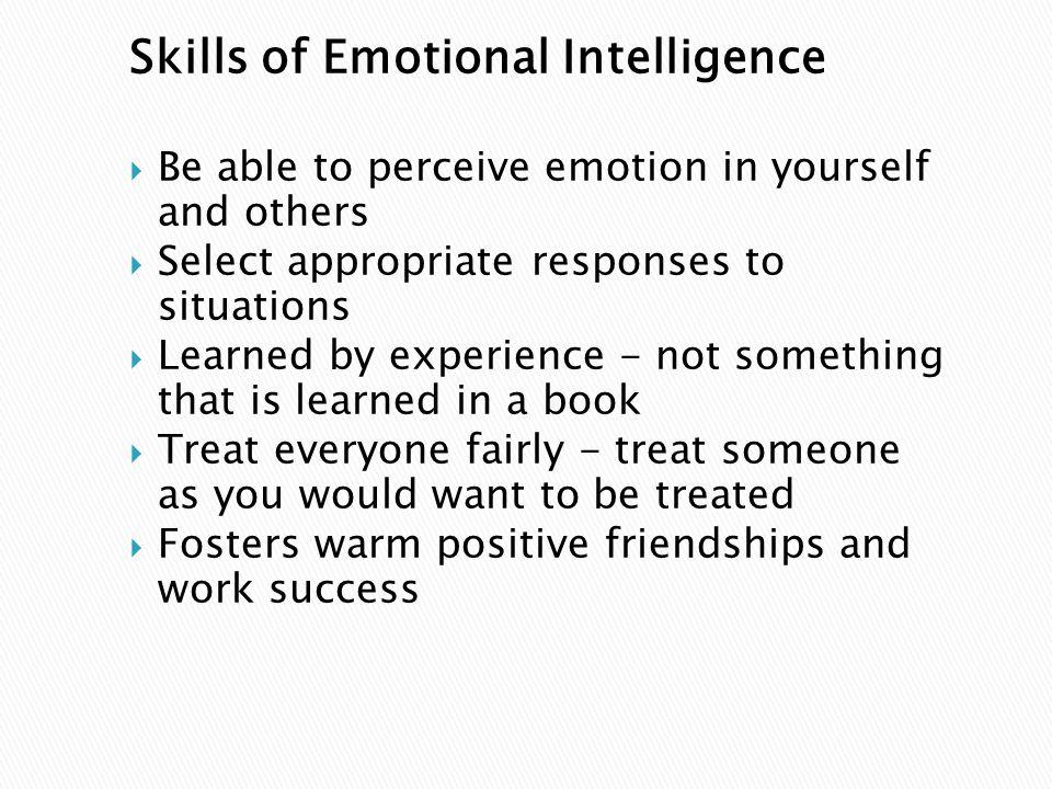 Skills of Emotional Intelligence