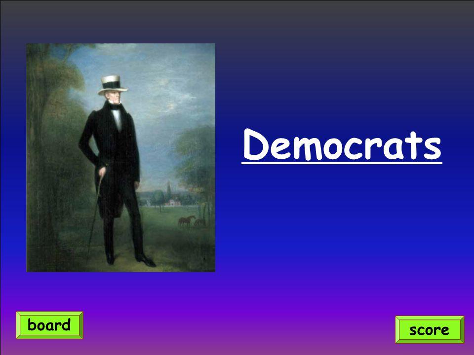Democrats board score
