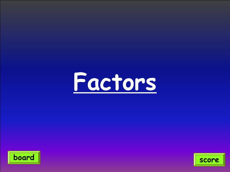 Factors board score