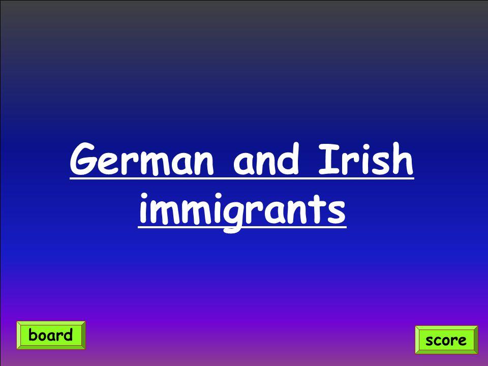 German and Irish immigrants