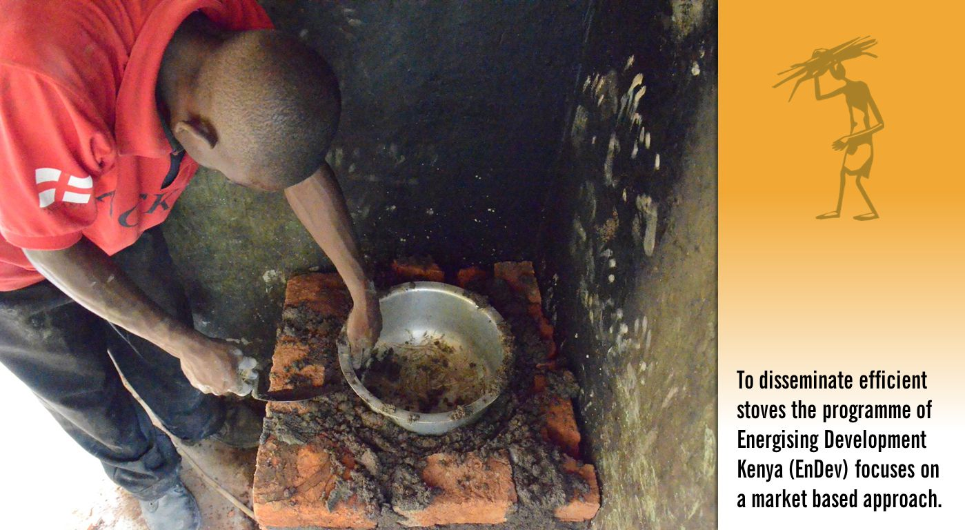 To disseminate efficient stoves the programme of Energising Development Kenya (EnDev) focuses on a market based approach.