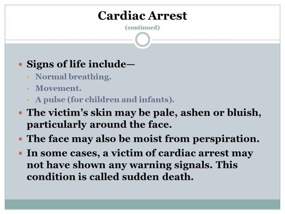 Cardiac Arrest (continued)