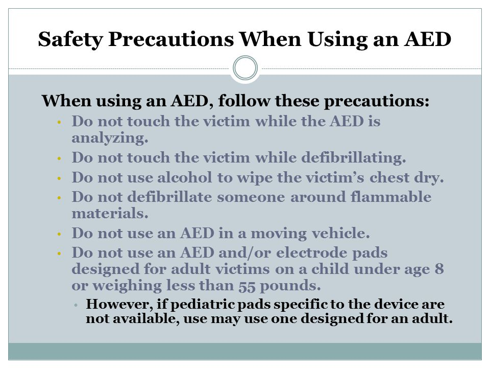 Safety Precautions When Using an AED