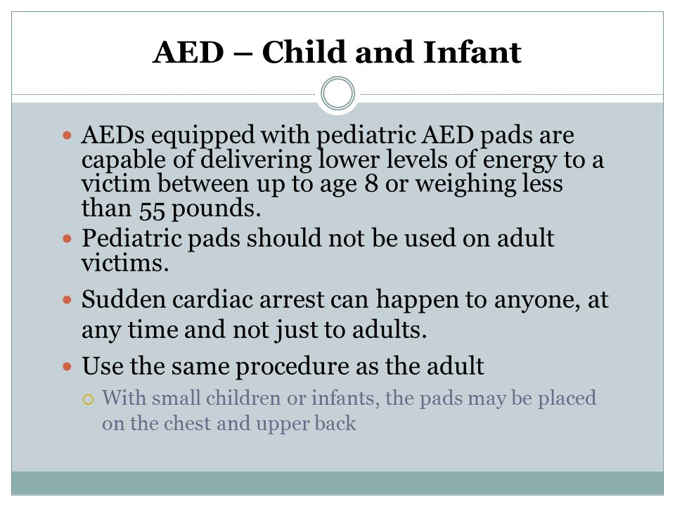 AED – Child and Infant