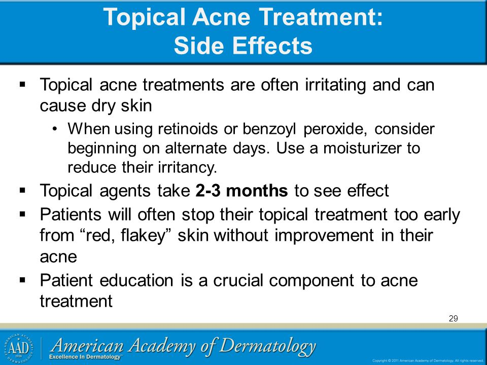 Topical Acne Treatment: Side Effects