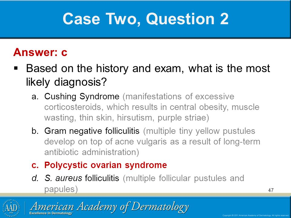 Case Two, Question 2 Answer: c