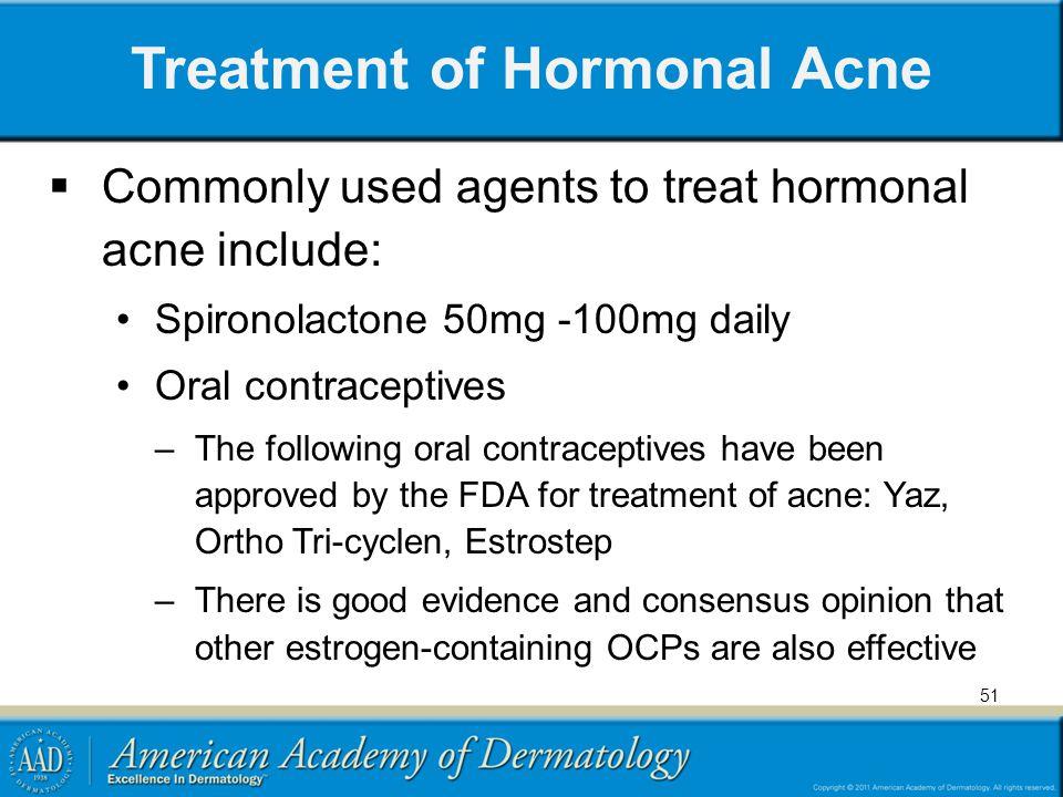 Treatment of Hormonal Acne