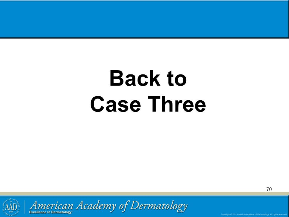 Back to Case Three