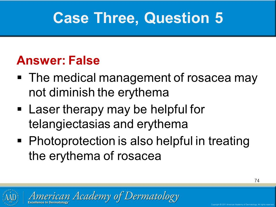 Case Three, Question 5 Answer: False