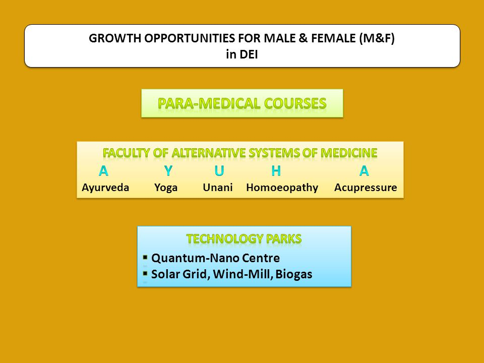 Para-Medical Courses GROWTH OPPORTUNITIES FOR MALE & FEMALE (M&F)