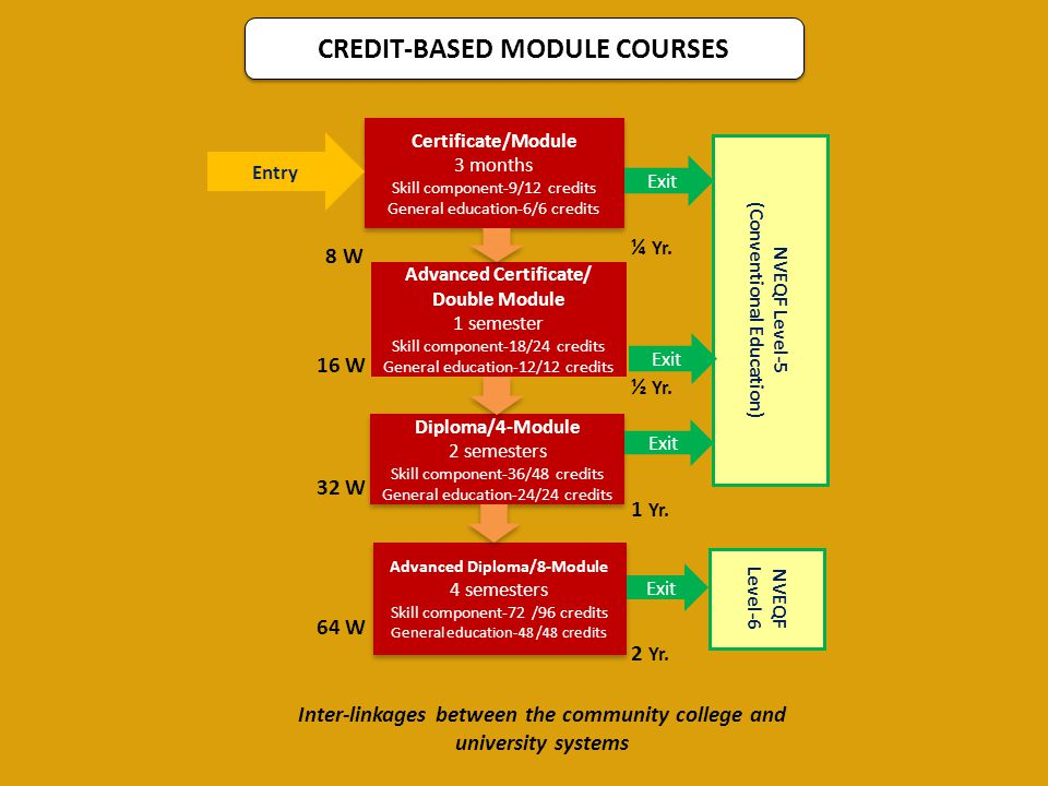 CREDIT-BASED MODULE COURSES