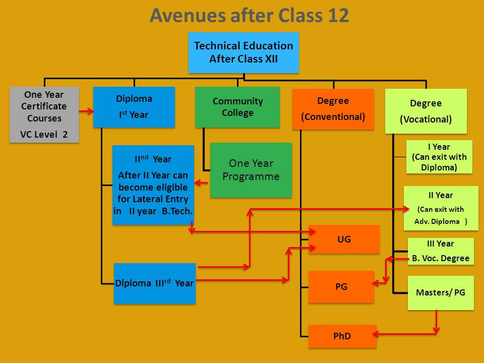 Avenues after Class 12 Technical Education After Class XII