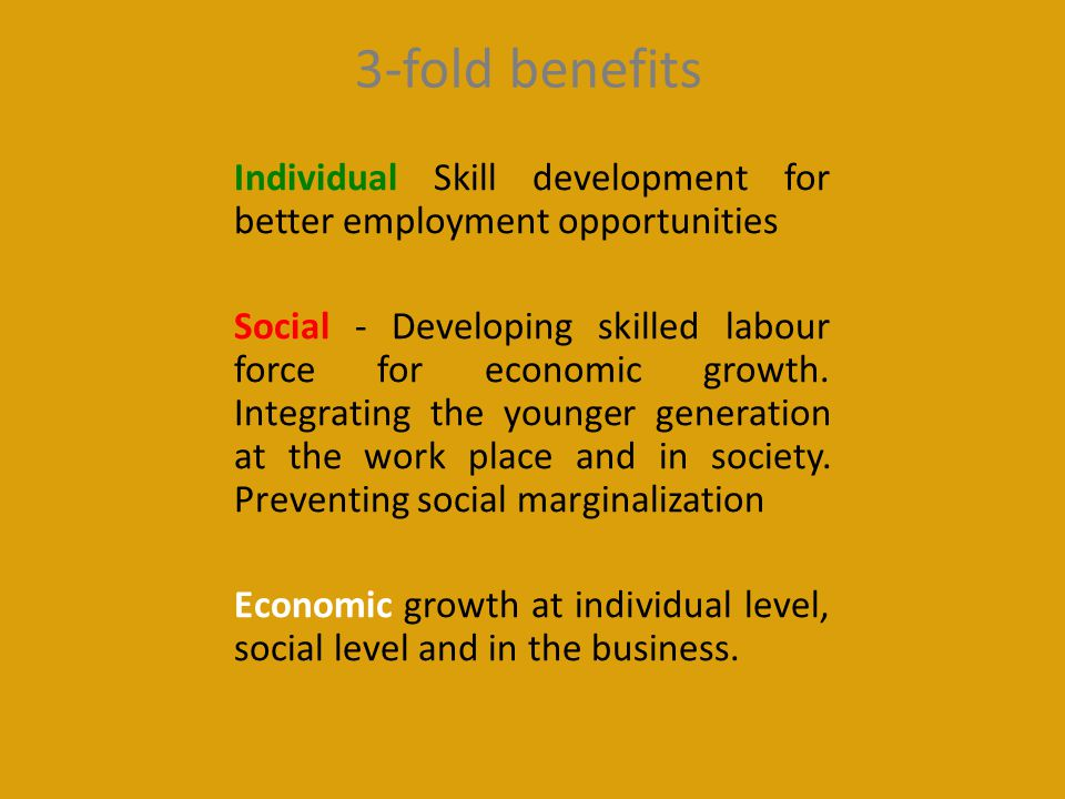 3-fold benefits