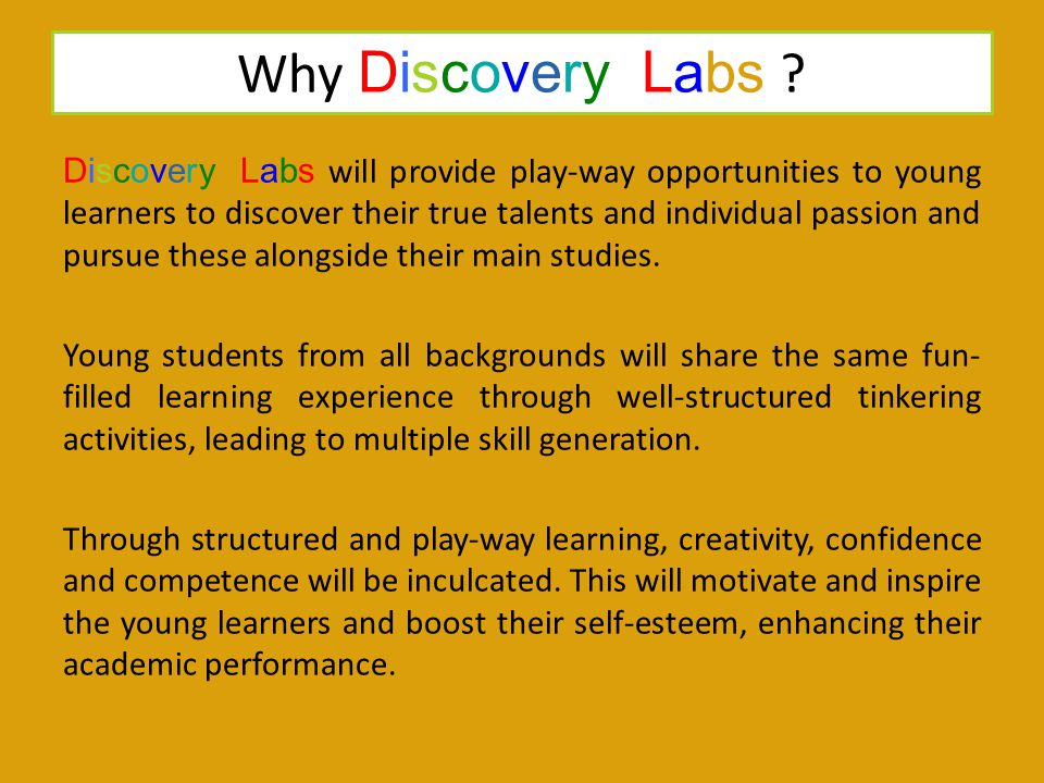 Why Discovery Labs