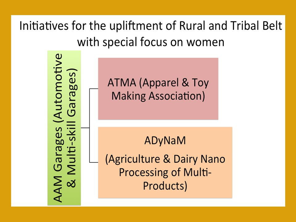 Initiatives for the upliftment of Rural and Tribal Belt