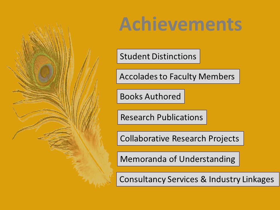 Achievements Student Distinctions Accolades to Faculty Members