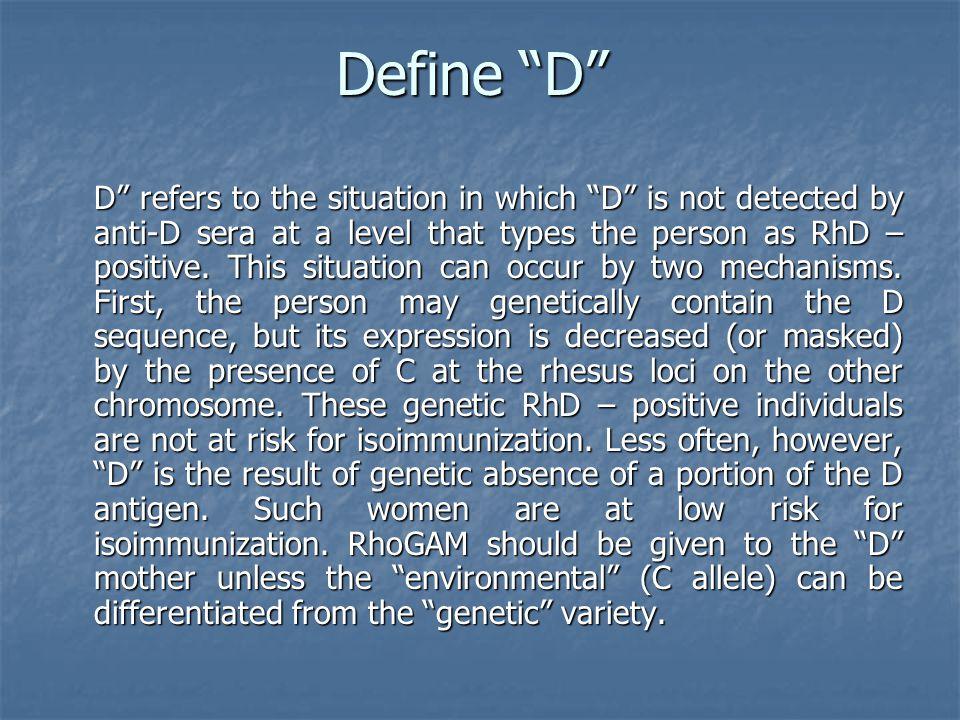 Define D