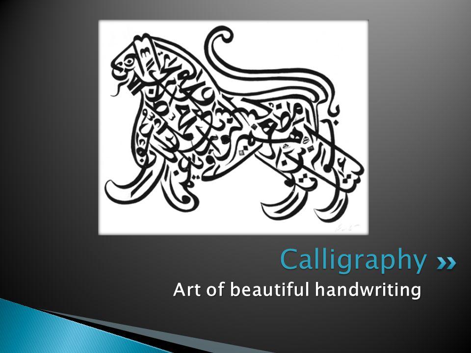 Calligraphy Art of beautiful handwriting