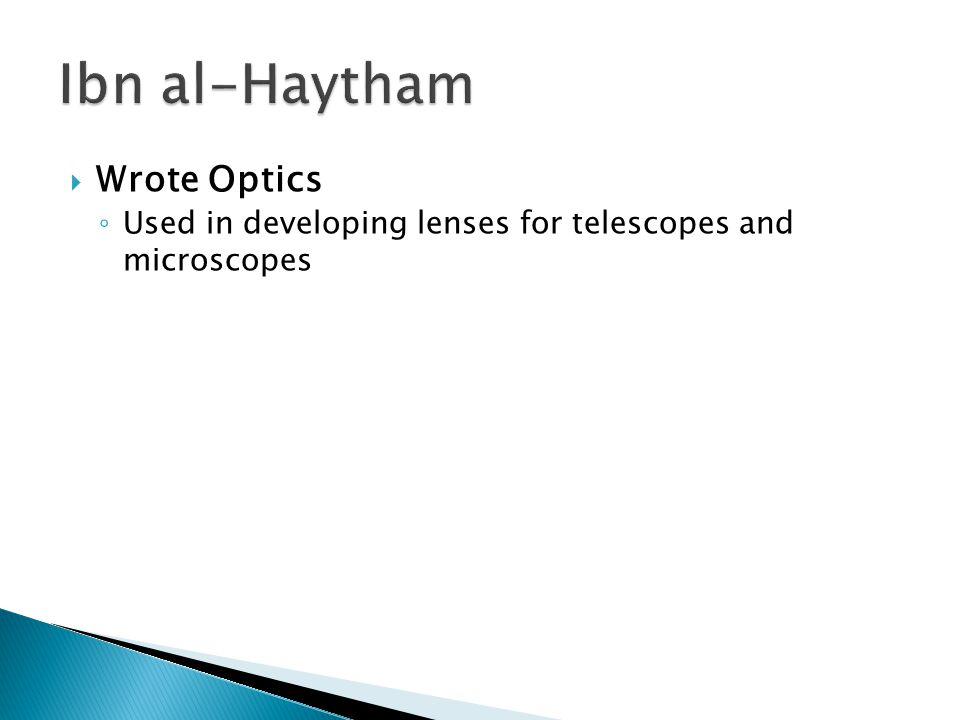 Ibn al-Haytham Wrote Optics