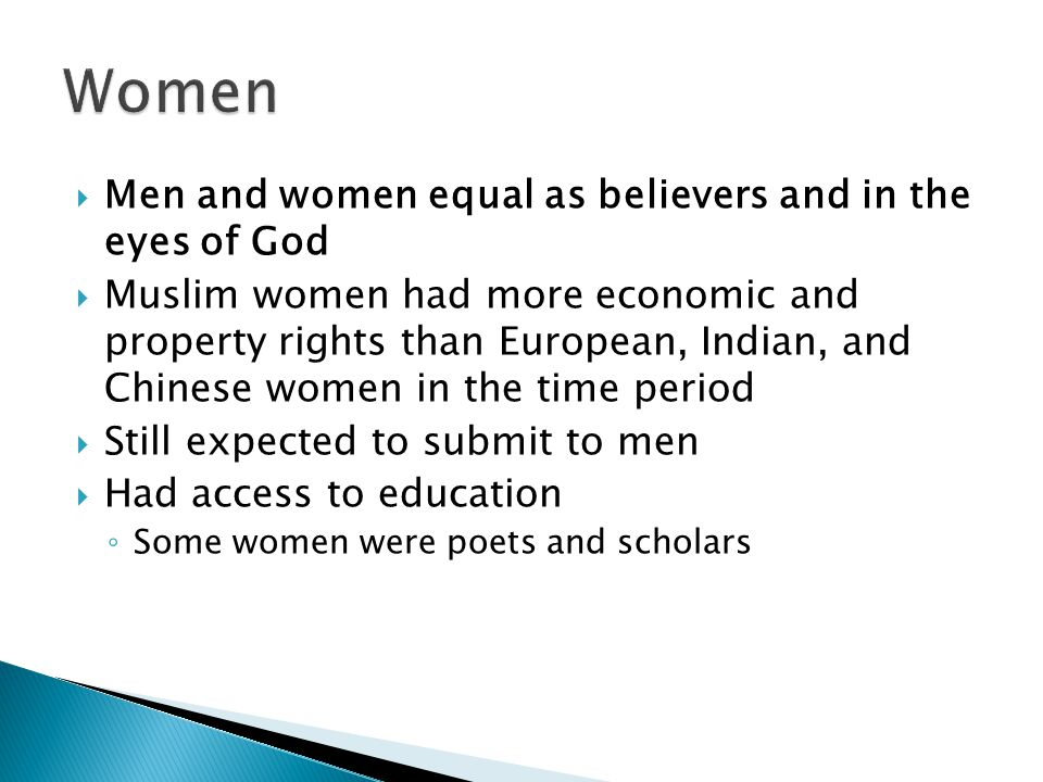 Women Men and women equal as believers and in the eyes of God