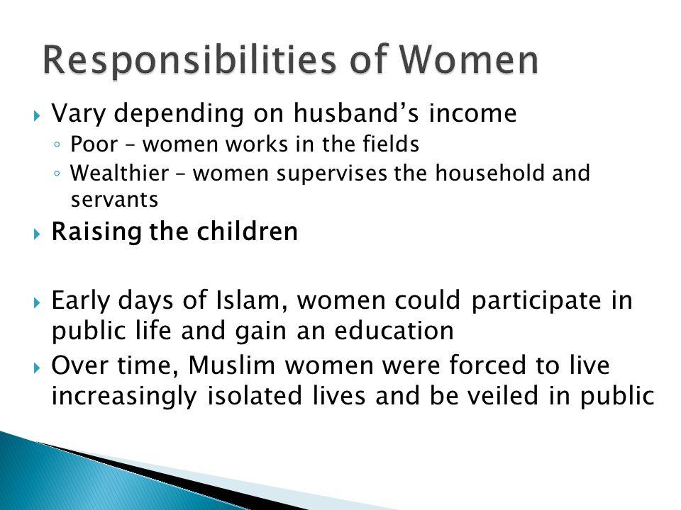Responsibilities of Women