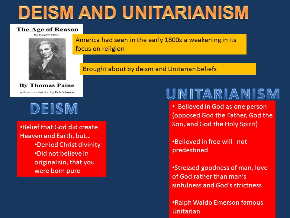 DEISM AND UNITARIANISM