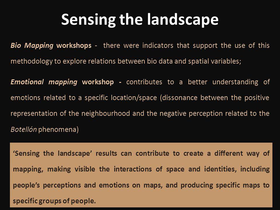 Sensing the landscape