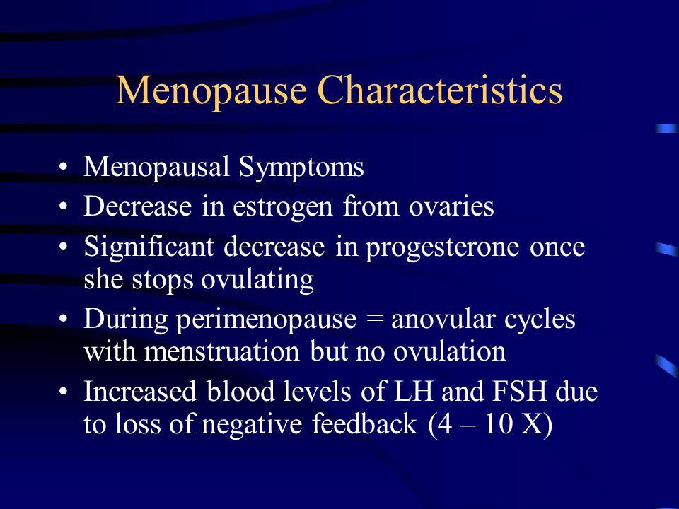 Menopause Characteristics