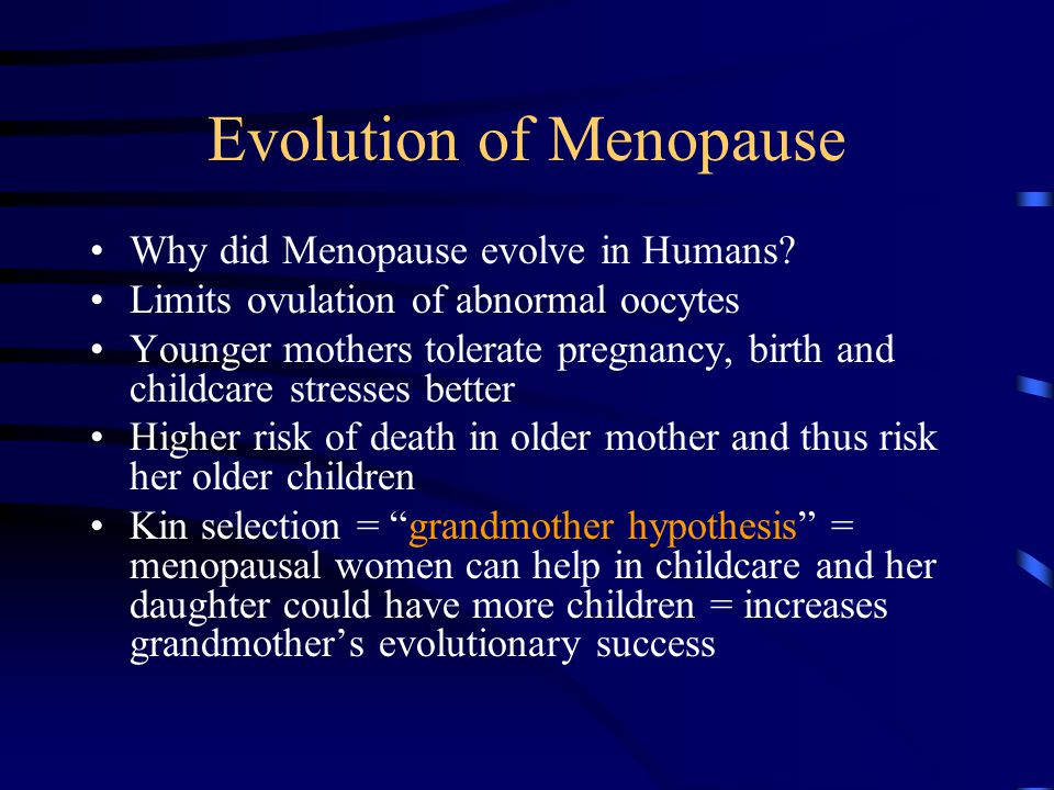 Evolution of Menopause