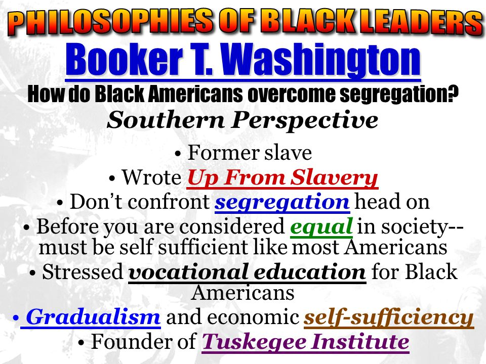 PHILOSOPHIES OF BLACK LEADERS